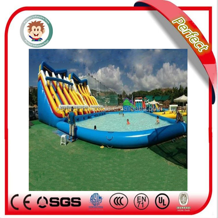 New craze and hot sale inflatable floating water slide
