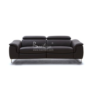 Home Furniture General Used Sectional Modern Leather Sofa , Motional Recliner Sofa Set Designs