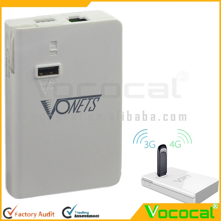 Vonets Portable 5000 mAh Power Bank 300Mbps 3G/4G Wireless WiFi Repeater Network Router for iPad Tablet Mobile Phone