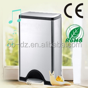 kitchen use stainless steel large garbage pedal bin 25L