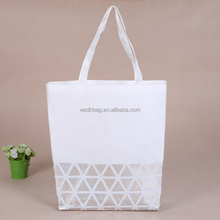 wholesale personalized non woven tote bag with polyester handle