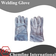10'' Gray cow split leather fire resistant short welding glove