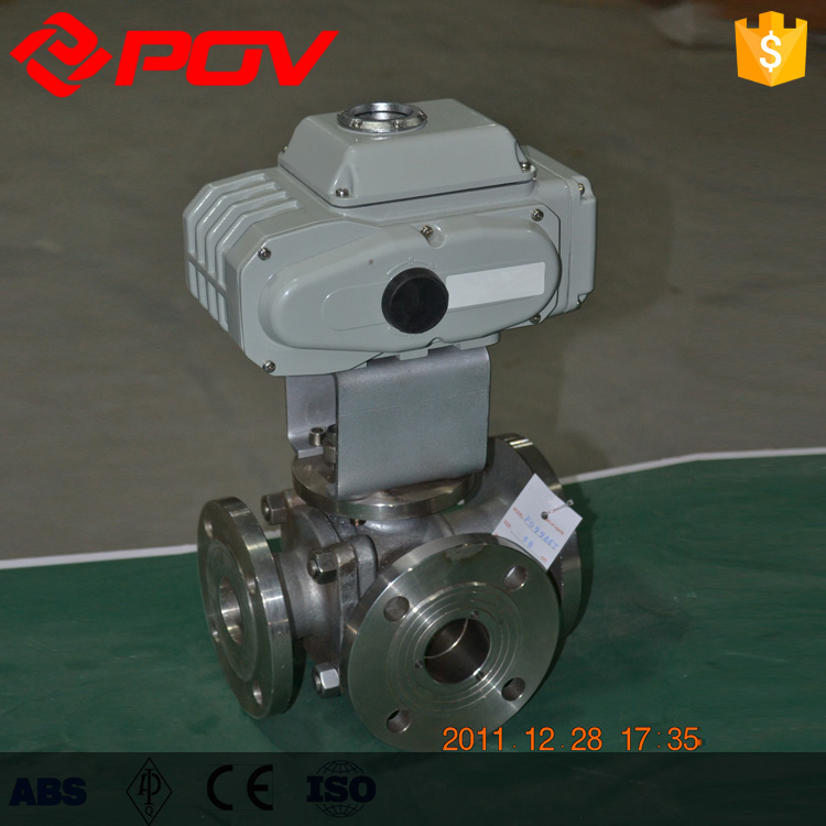 4 inch flanged motorized 3 way ball valve