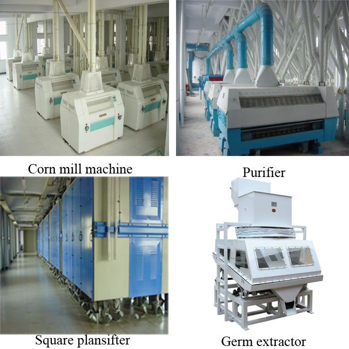 Best selling Low price 200t 24h maize flour mill
