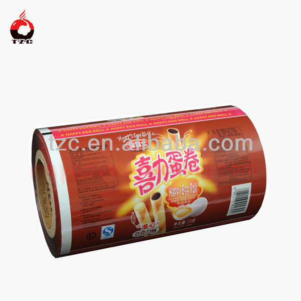 custom printing food plastic film heat sealable pet film
