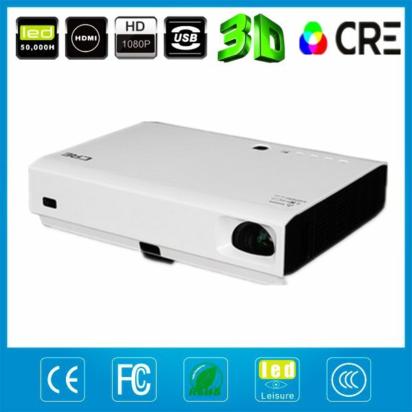 Free Shipping HD USB HDMI Interface 720P 1080P Multimedia LED 3D Proyector For Home Use Home Theater School Meeting