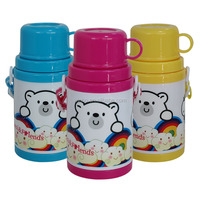 Double walls PP plastic water bottle with cup