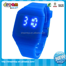 Waterproof silicone led sport touch screen promotional gift watch