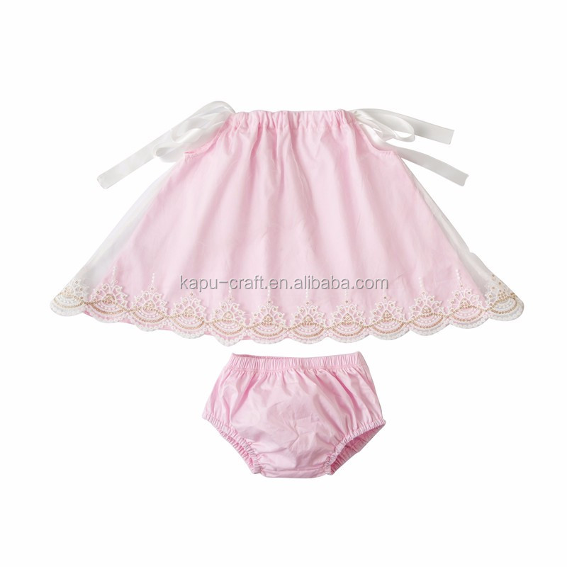 baby long lace swing outfits kids shorts set