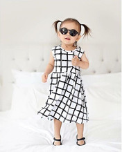 Wholesale Baby Girls Cotton Summer Dress Stripe Kids Boutique Clothing Toddler Dresses