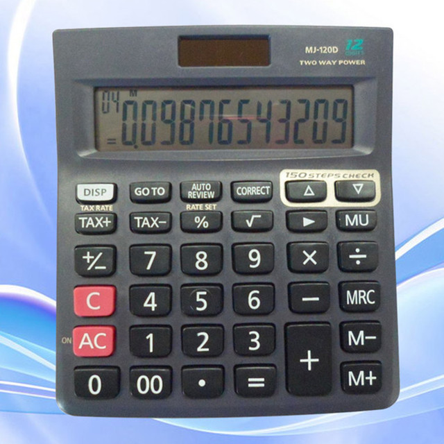 Function 12 digit desktop office calculate fractions calculator