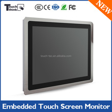 "Super Slim HD 15"" Panel Mount Capacitive LCD Monitor For Medical Industrial"