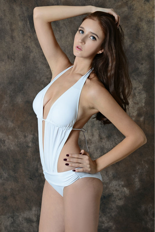 white dress beachwear