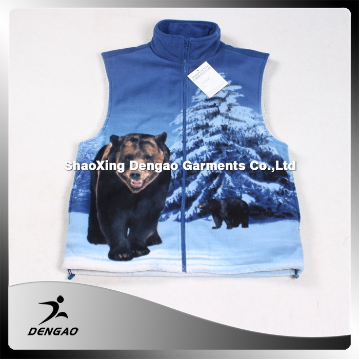 Factory price embroidered mens vests & waistcoats