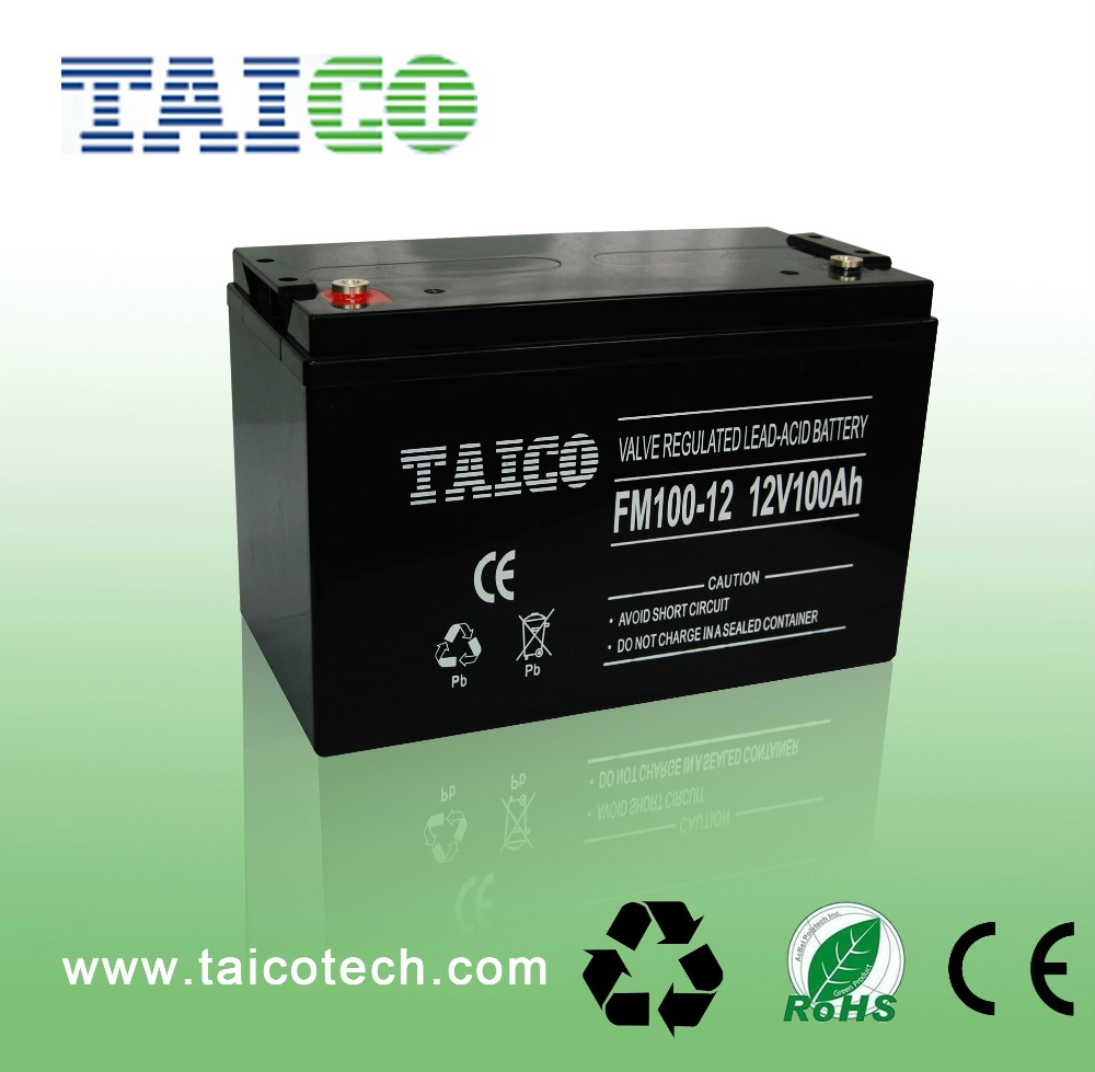 Storage rechargeable battery maintance free 12v 100ah lead acid box