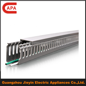 High Quality Slotted Solid PVC Wire Duct/ Cable Channel Cable Trunking/Duct
