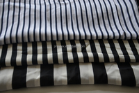 black and white stripe printing imitated silk fabric for lady