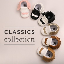 2017 new arrivals hand made children leather baby shoes