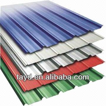 painted steel coil galvanized corrugated iron sheets shingles roofing materials