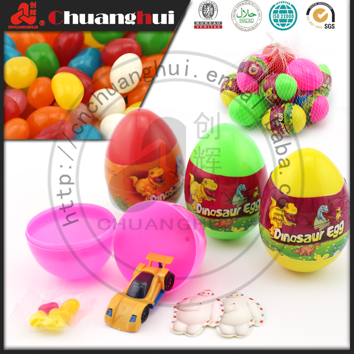Big Surprise Dinosaur Egg Toy Candy for Kids / Car Toy with Jelly Bean In Dinosaur Egg