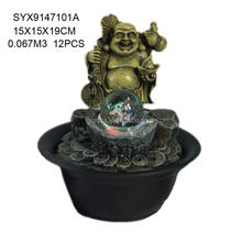 Home indoor decorative buddha statue religious water fountain
