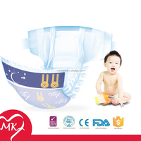 Super soft disposable sleepy baby diaper with PE backsshet and PP tape