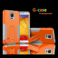 Heavy Duty layer to for Samsung Galaxy Note 4 robusto PC + TPU Kickstand Hybrid Case prova shock