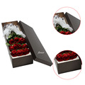 High quality brown rectangle paper packaging box for flowers