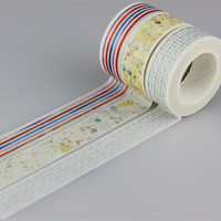 Wholesale 15mmx10m Japanese washi paper Colored Tape