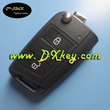 3 buttons remote car key with b433mhz 48chip for auto key vw vw golf key 5G0 959 753 BA half smart