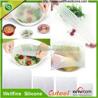 New Magic Healthy Silicone Food Wrap Seal Cover Stretch Cling Film Fresh Keeper