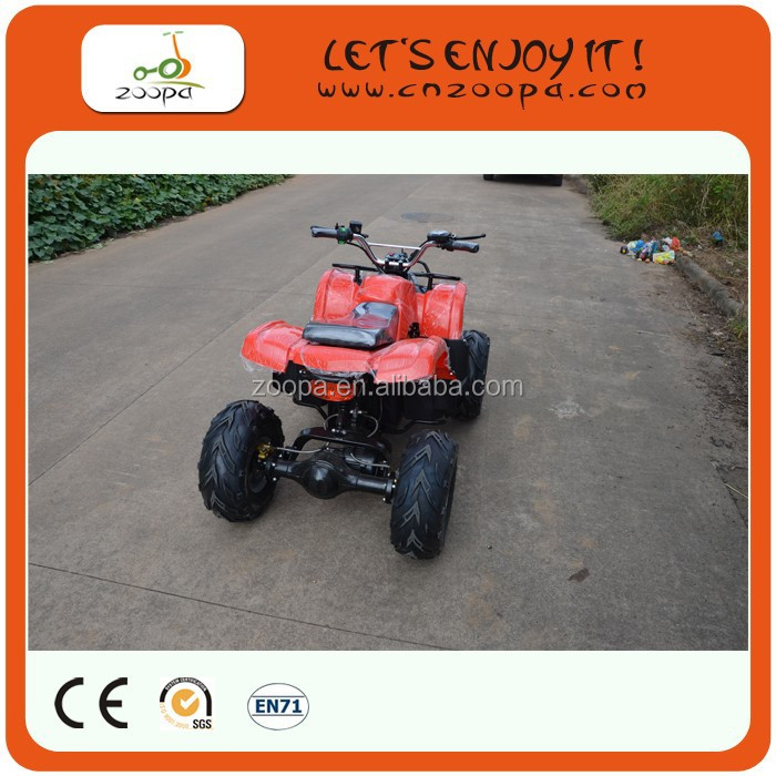 Hot-sale CE proved 4-wheel 36V electric atv500/800W/1000W foot pedal switch atv for sale for Kids, ZP-EATV7011