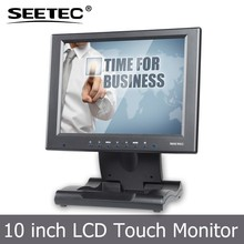 10 inch tft hdmi lcd display car touch screen vga input monitor with folded bracket