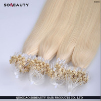 Hot Selling Tangle Free Wholesale Top Quality Shedding Free Human Remy leshine russian virgin micro bead hair extensions