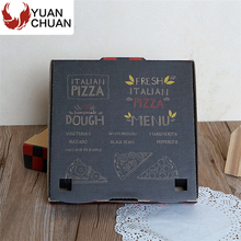 Foldable corrugated paper pizza take away box