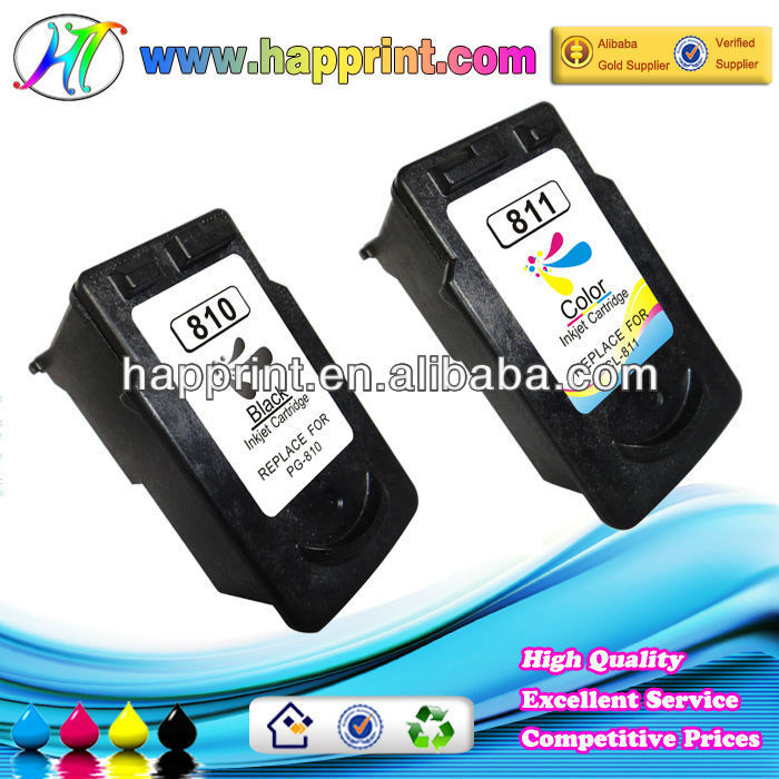 compatible inkjet cartridge for canon cl811 pg810 refill more ink