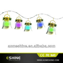 Wedding Decoration Promotional Bell String Lights,bell light with music for Xmas
