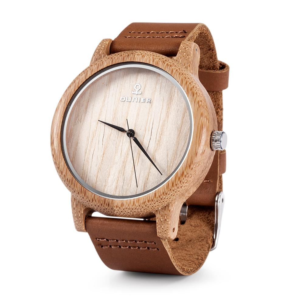 Simple trend top brand clock bamboo wood watch japan quartz men/women wood watches