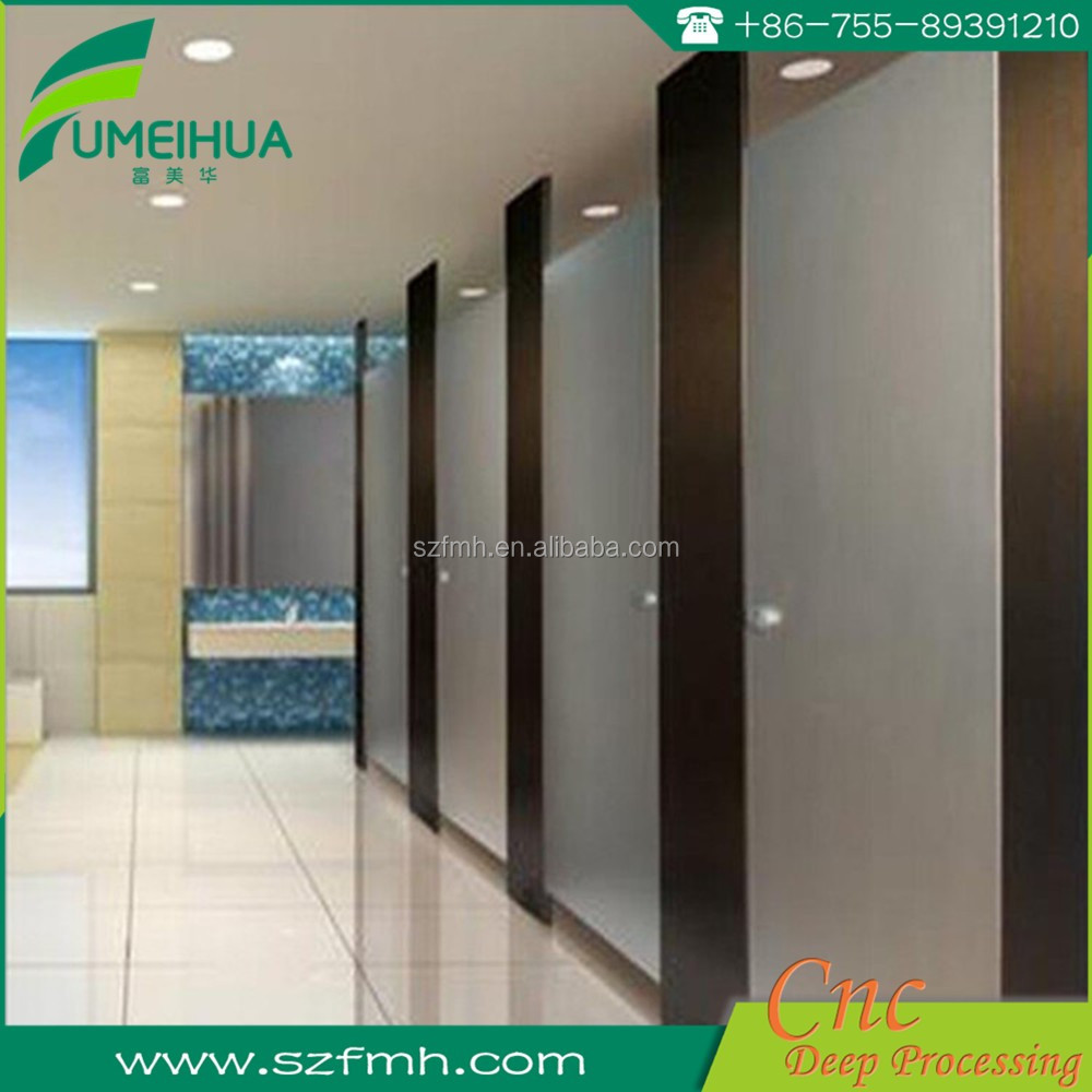 Waterproof WC compact toilet partition, toilet cubicles / HPL toilet cubicle partition sheet
