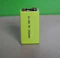 NIMH 9v 250mAh rechargeable battery for baby toys