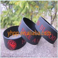 Custom Logo Silicone Wristbands, Latex-Free, flexible and very strong, Great for Promotional Gift