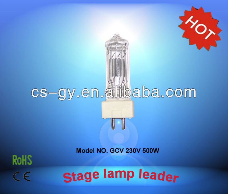 hot new lamp professional suppliers halogen bulbs 500W GY9.5 T 18