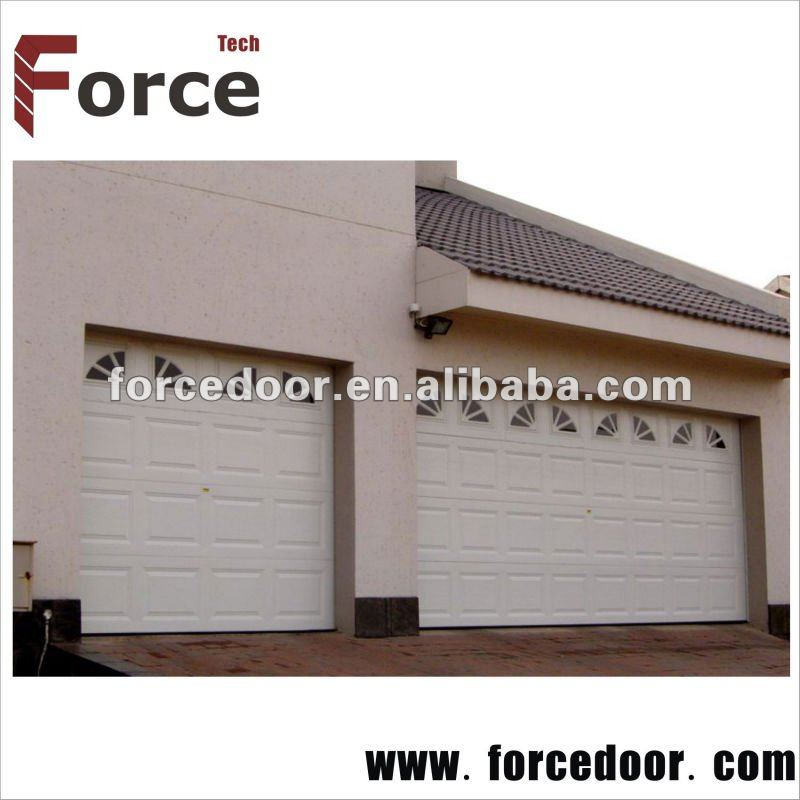 Hands protection sectional garage door with remote control.