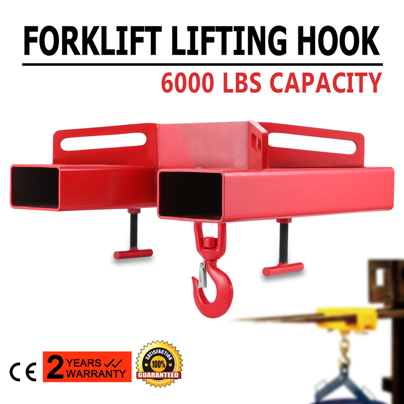 Attachment 3000kg Telehandler Crane Jib Test Cert 3 Tonne Large Forklift Lifting <strong>Hook</strong>