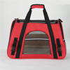 Red Cat carrier travel bag soft with fleece blanket sheet toy dog