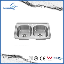 Apron Stainless Steel Small Double Bowl Kitchen Sink