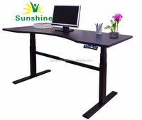Manual and electric desk for office, automatic lifting metal , pictures of office tables