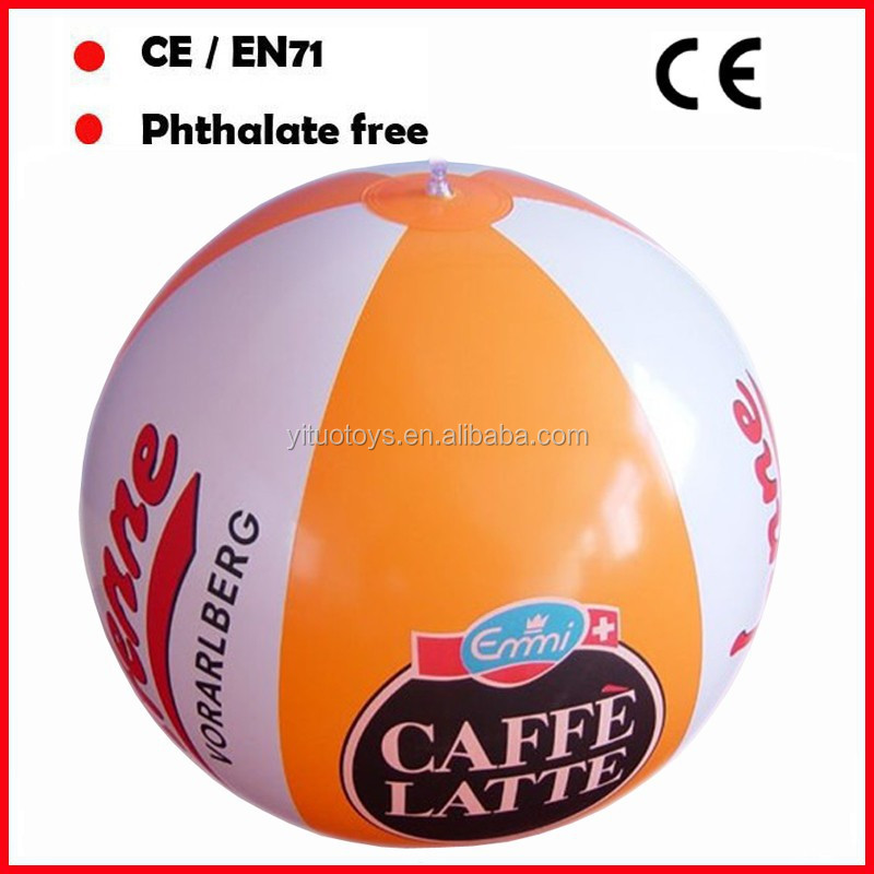 EN71 European standard inflatable beach balls with custom logo printing