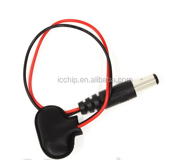 High Quality 2.1 x 5.5mm Male DC Power Plug to 9V Battery Clips Snap T-Type Cable