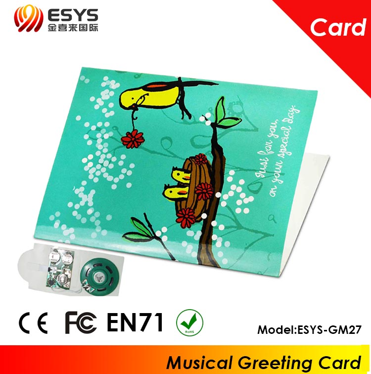 OEM waterproof sound chips for Christma cards